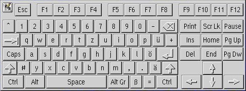 Немецкую клавиатуру виртуальную клавиатуру